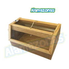Transportadora de madera para Aves, pájaros o pequeñas mascotas