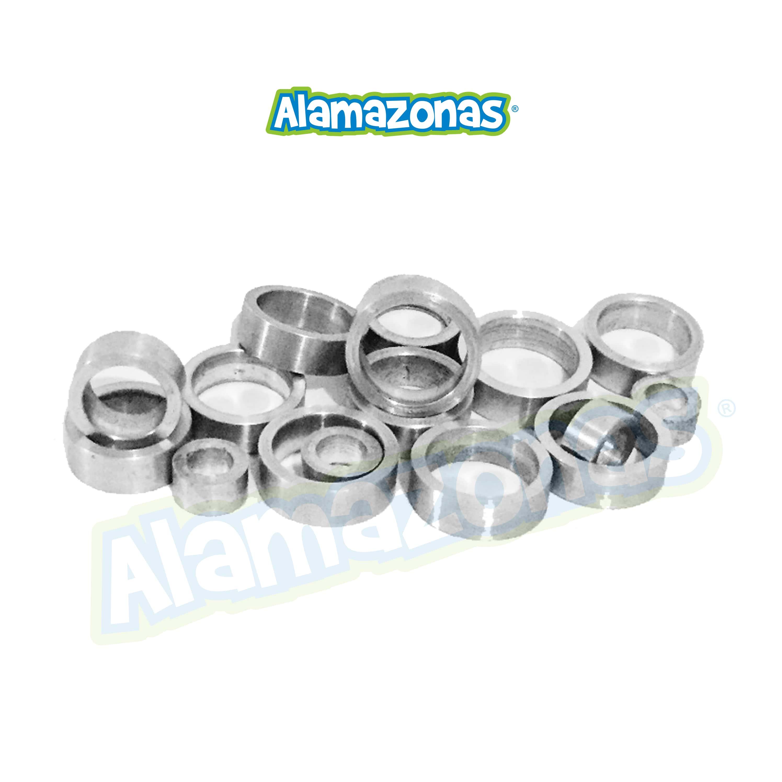 Anillo para loros, puede ser de varias medidas, en aluminio o acero, cerrados o abiertos, marcaje limitado. *Precio por unidad y se fabrican artesanalmente no en serie. Alamazonas