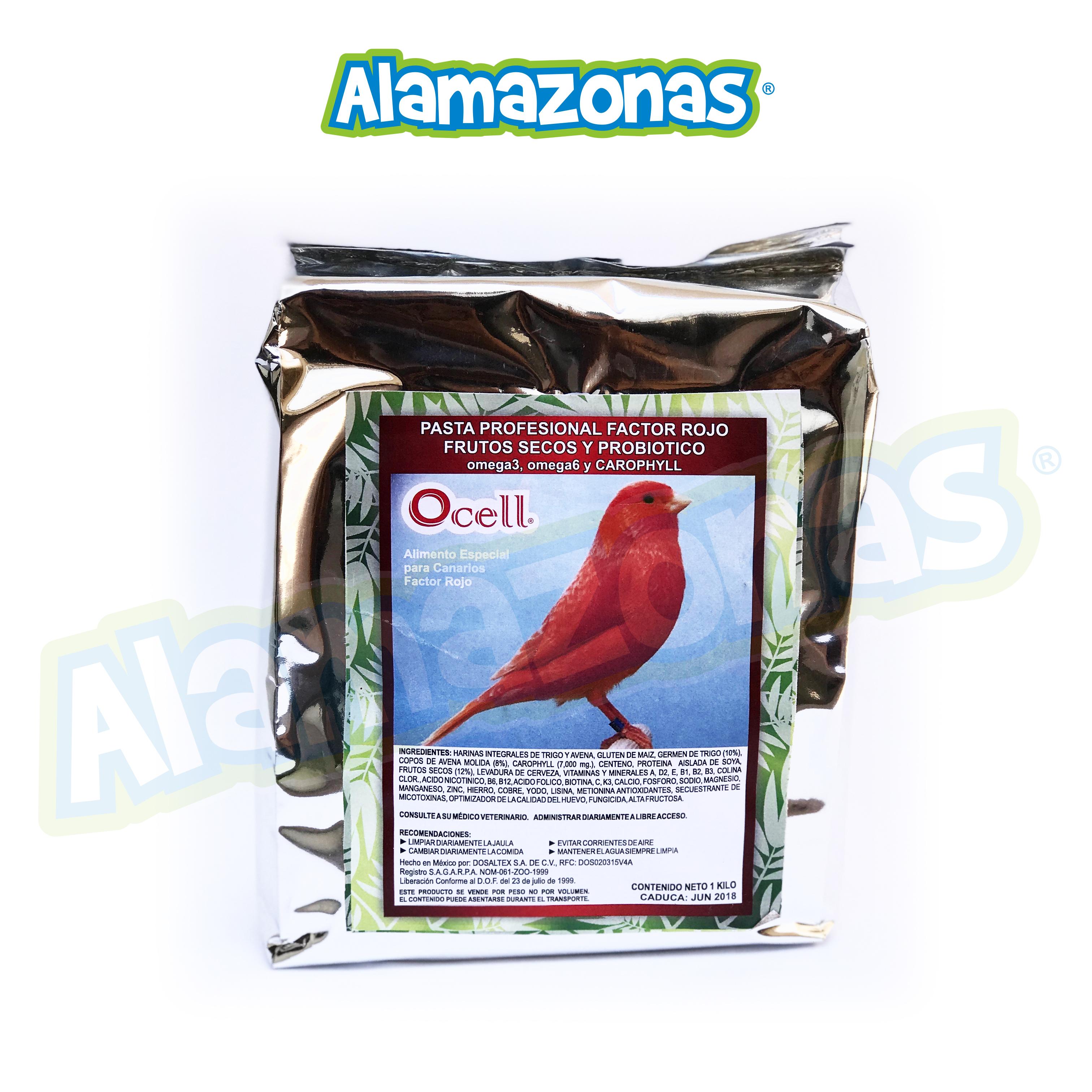Pasta Profesional Factor Rojo, Omegas 3-6 Frutos Secos, Probióticos y Carophyll