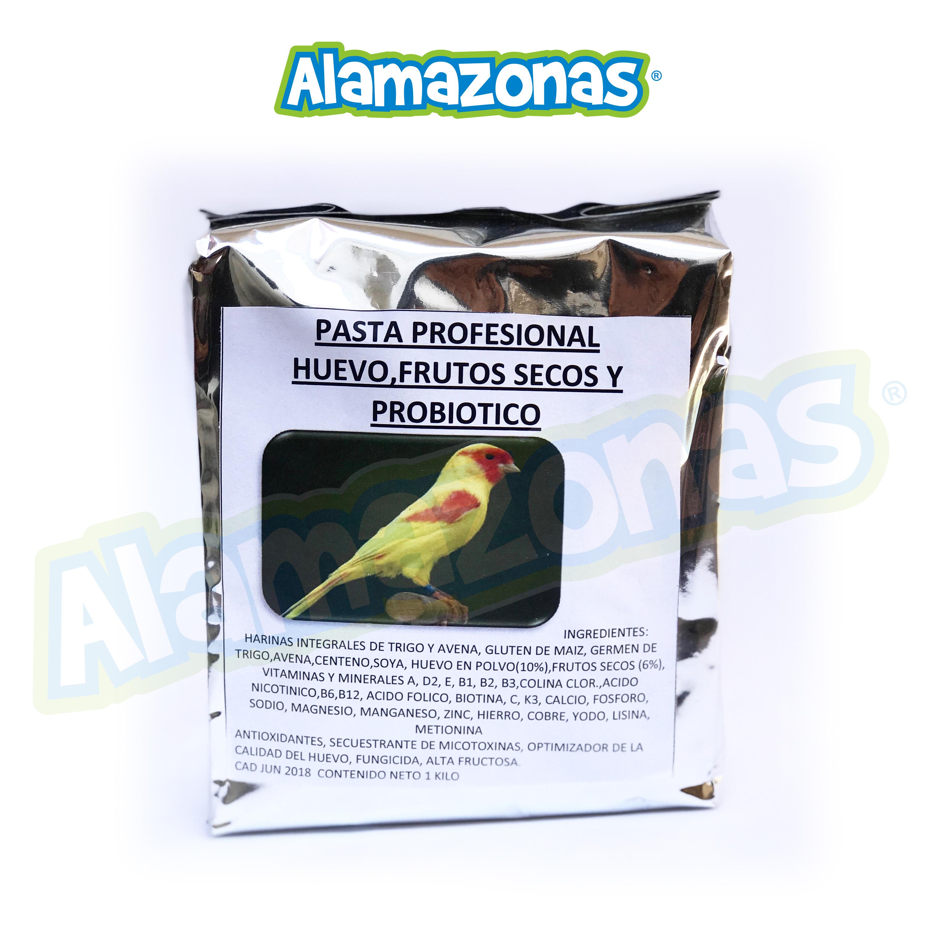 Pasta Profesional de Cría Huevo con Probióticos 1kg Ocell Alamazonas